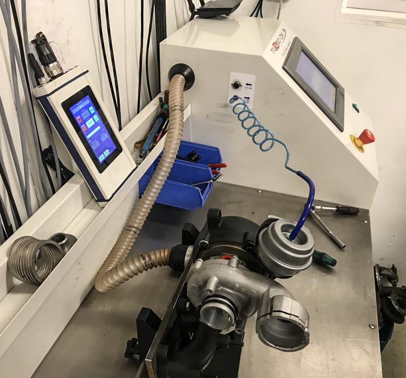 Renovering af turbo i Turbo Technics flowbænk
