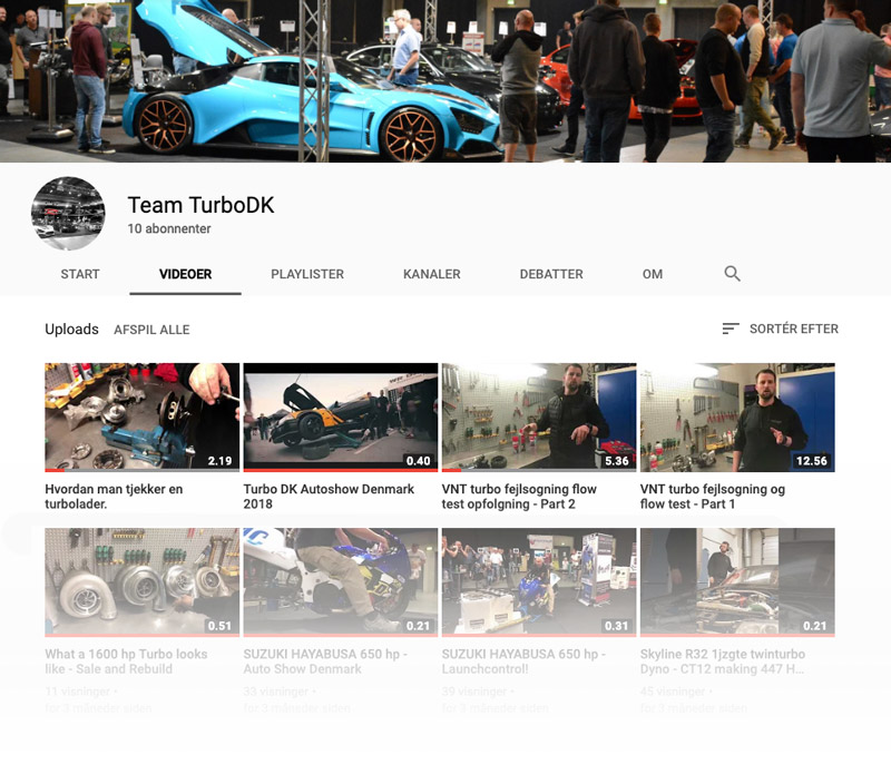 Turbo DK på Youtube